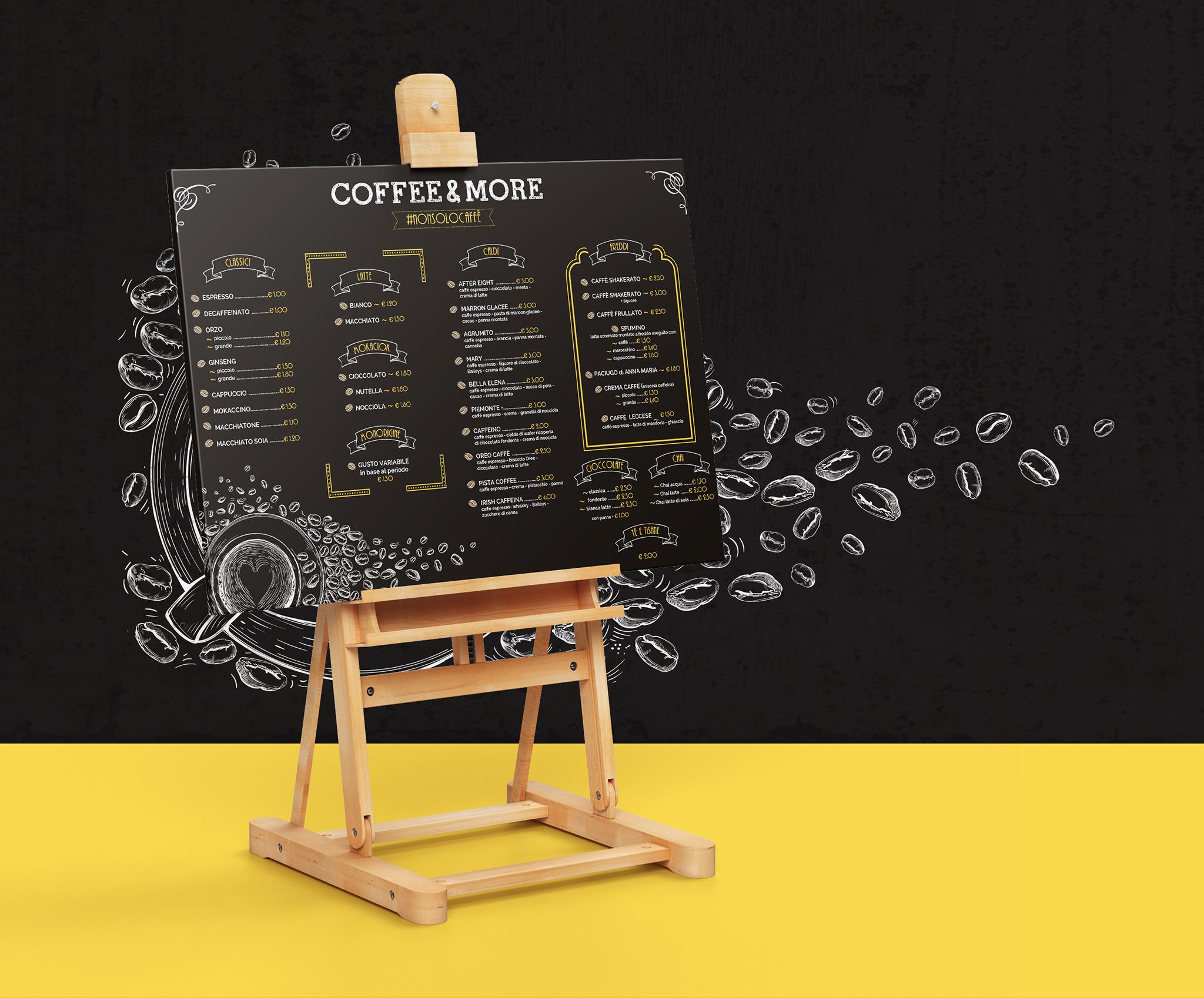 Creazione menù esterni bar